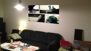 Skiss tavlor vardagsrum